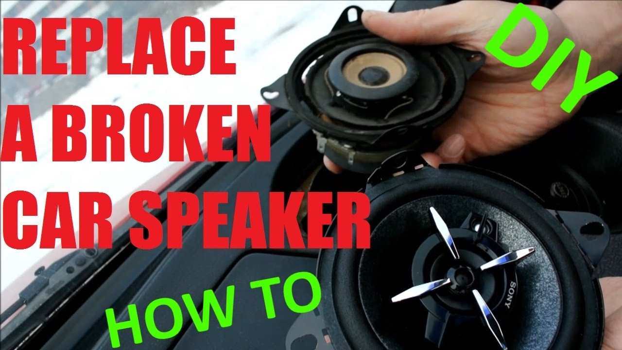 medium resolution of how to replace a car stereo speaker