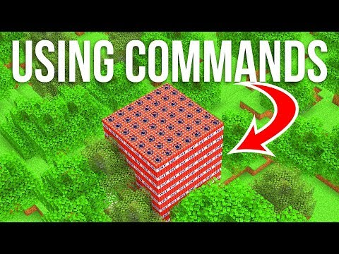 How To World Edit With Commands In Vanilla Minecraft!