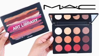 Mac Cosmetics Art Library FLAME BOYANT Eyeshadow Palette | SWATCHES