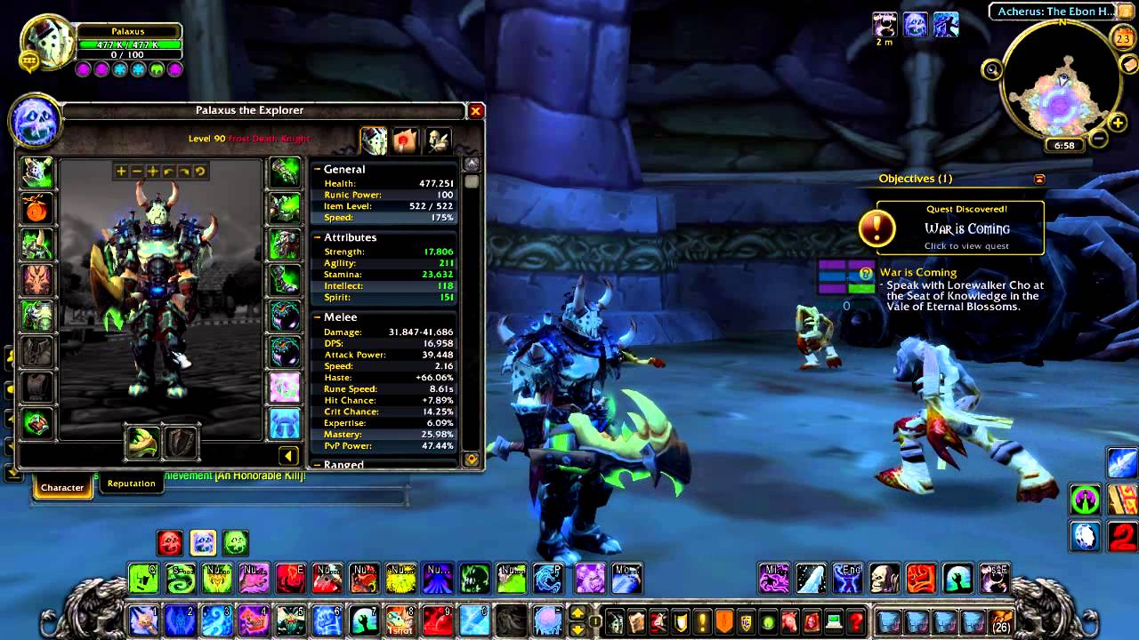 Death Knight Frost DPS PvE 335 WoW Talentos