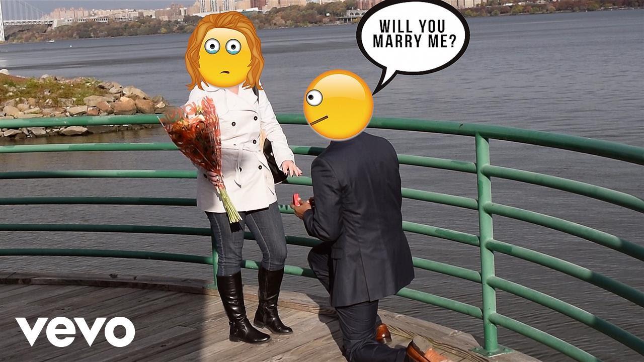 Emojii Can T Stop Falling Emoji Wedding Proposal Youtube