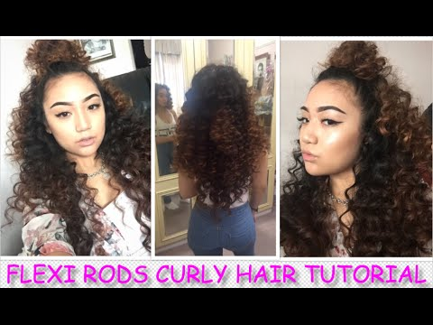 FLEXI ROD CURLY HAIR TUTORIAL (HEATLESS) | ELLIENA ROSE ANNE