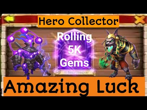 Hero Collector Amazing Luck With Only 5K Gems! Castle Clash