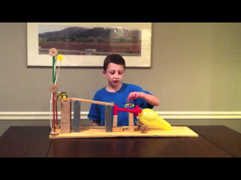 Six Simple Machine Project Using All Six Machines - Rube Goldberg
