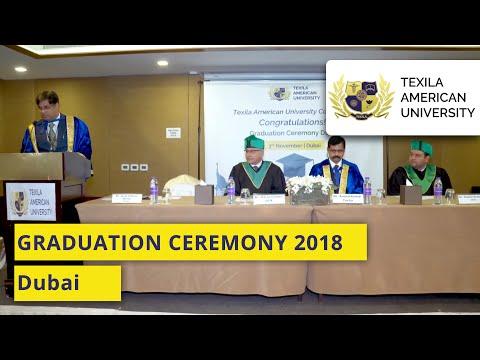 Texila American University - Graduation Ceremony 2018 @ Dubai