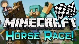 Minecraft: Horse Race Mini-Game! w/Mitch & Friends!