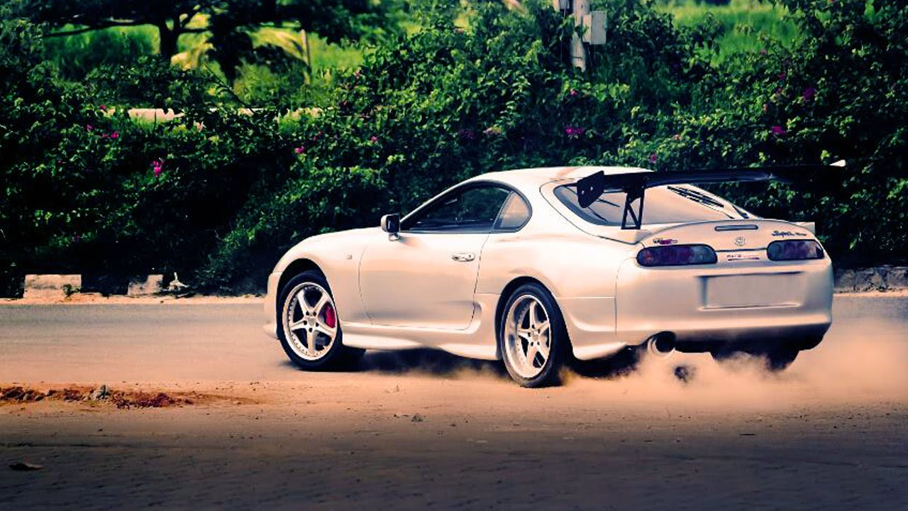 Toyota Supra Burnout And Drifting In India Youtube