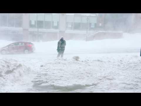 Saint John NB Winter Storm Feb 13 2017