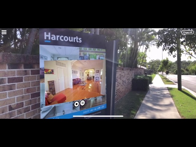 Harcourts Stafford   Video on For Sale sign