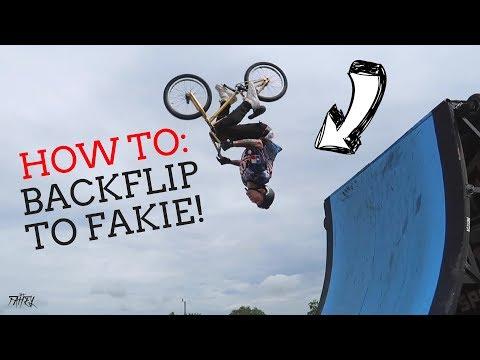 HOW TO BACKFLIP TO FAKIE ON A BMX BIKE WITH JACK FAHEY!