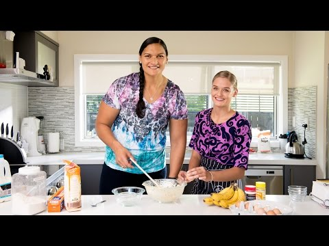 Air New Zealand #greatmates. Baking up a storm with Valerie