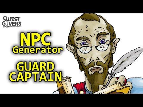 NPC Generator - Guard Captain - Creating Non-Player Characters