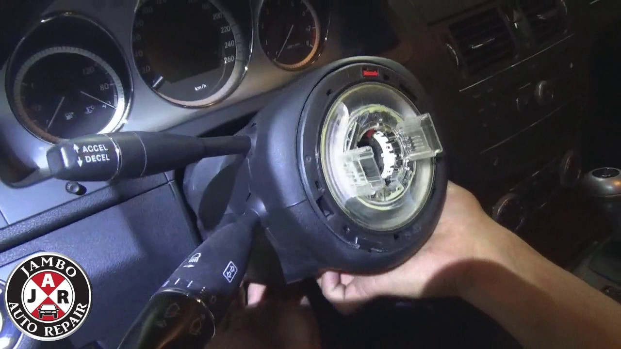 How to remove w204 Steering Lock (esl) and ignition switch (eis)