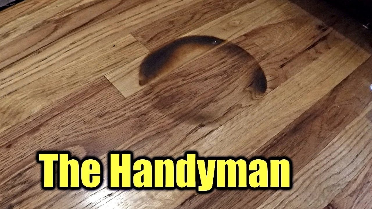 How To Repair A Burned Hardwood Floor The Handyman Youtube