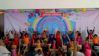 Bermain Alat Musik Perkusi Kreasi TK Bunda Ganesa Bandung - Playing Percussion Instruments