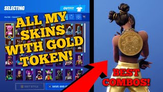 *NEW* FORTNITE WICK'S BOUNTY LTM! GOLD TOKEN BACKBLING SHOWCASED ON ALL MY SKINS! BEST COMBOS