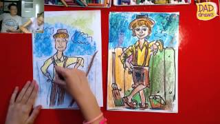 How to draw Tom Sawyer