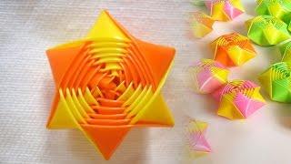 How to make rainbow origami straw stars - Drinking Straw