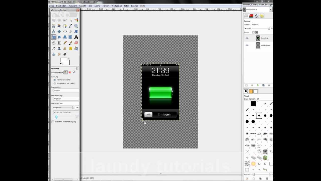 Gimp tutorial iphone und ipod wallpaper erstellen youtube - Wallpaper erstellen ...