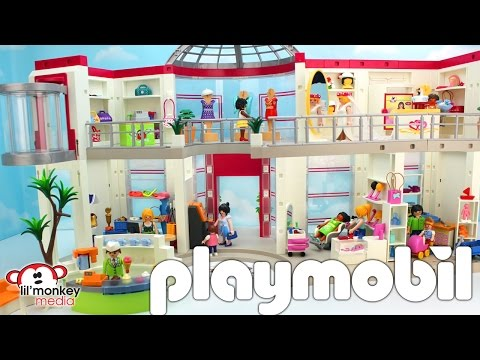 Playmobil Furnished Shopping Mall with Extension, Beauty Salon and Toy Store Add-on Sets!