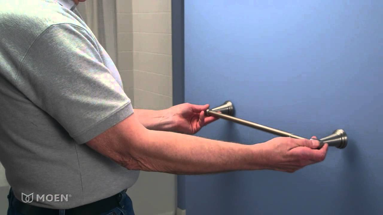 Moen Guided Installation Video The Adjustable Towel Bar Youtube