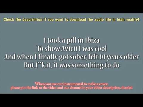 Mike Posner - I Took A Pill In Ibiza (Guitar Instrumental) Karaoke