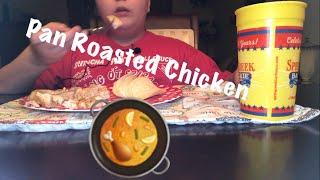 Yoshi Pro - ASMR Eating Sounds - Pan Roasted Chicken