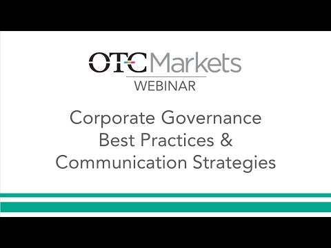 Corporate Governance Best Practices & Communication Strategies