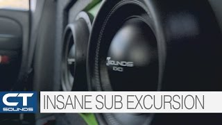 Biggest Subwoofer Excursion Best CT Sounds SLOW-MO Woofer Flex