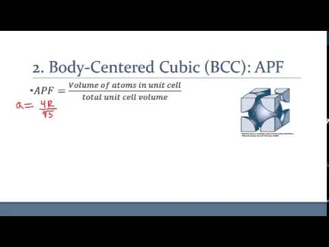 Body Centered Cubic (BCC) - Derivation of APF and visualization using VESTA