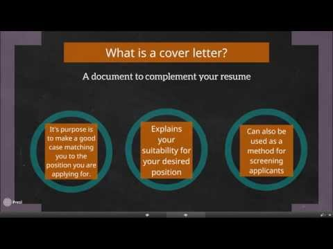 Cover Your Bases, Cover Letter Workshop