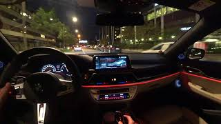 [4k] POV BMW M760Li FIRST impressions NIGHTTIME V12 BiTurbo 600 HP M Performance POWER!