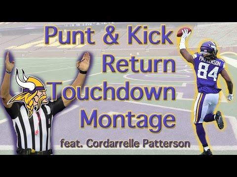 Cordarrelle Patterson Kick & Punt Return TD Montage