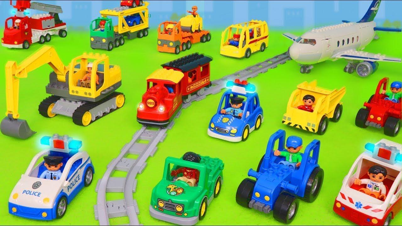 LEGO DUPLO Koparki, Koparka, ciężarówka zabawki, dźwig Bagrownica, Ciągnik - Excavator toys for kids