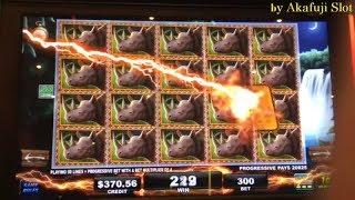 BIG WIN★BIG 5 SAFARI Slot Machine, Progressive Win X 3 Times, ITG, San Manuel Casino, Akafujislot