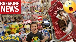 Hunting For All The Newest Cards & Rarest Toys At Target! We Found New Pokemon, Lego, Roblox & More!