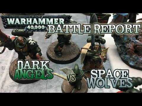 GMG 40k Battle Report - Ep 14 - Space Wolves vs. Primaris Dark Angels