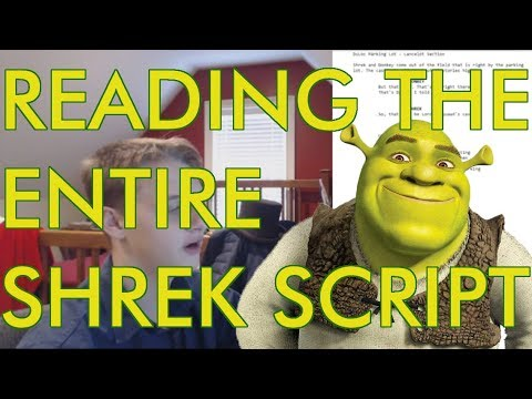 Reading The Entire Shrek Script (1000 Subscribers Special)