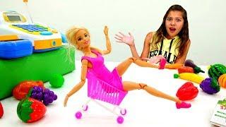 Работа для Полен - Кассир в супермаркете - Видео для девочек с Барби