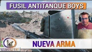 Battlefield V Nueva Arma Fusil Antitanque, Desmaterializa Infantería, y araña los tanques xD
