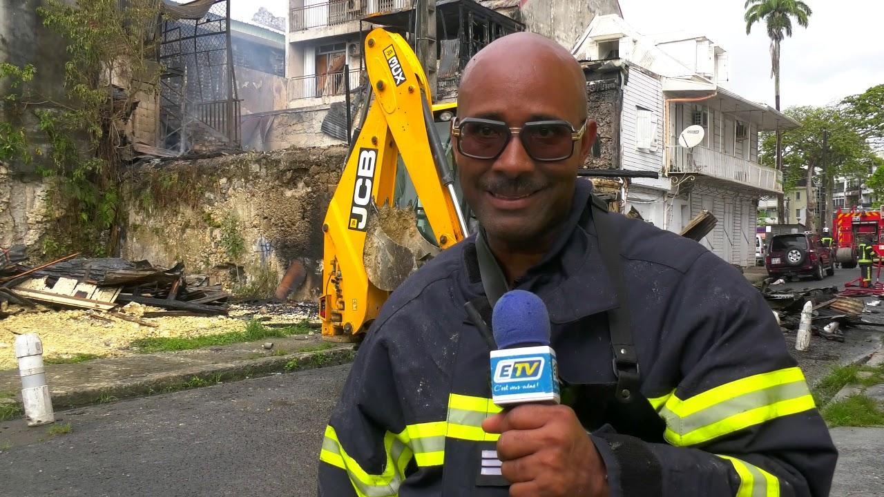 """Incendie à Pointe-à-Pitre: """"Il faut des solutions, il y a 200 ruines de ce genre à Pointe-à-Pit"""