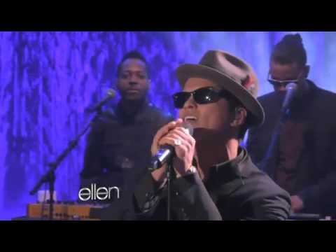 Bruno Mars Performs 'It Will Rain' Live On Ellen Degeneres