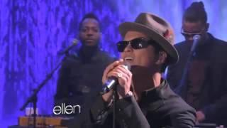 Download Bruno Mars Performs 'It Will Rain' Live On Ellen Degeneres