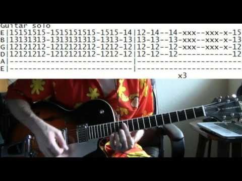 guitar lessons online Prince kiss tab - YouTube
