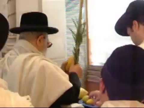 """מרן הרב עובדיה יוסף זצ""""ל בנטילת לולב בחול המועד של חג סוכות"""