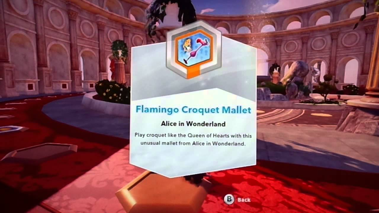 disney infinity alice in wonderland flamingo croquet