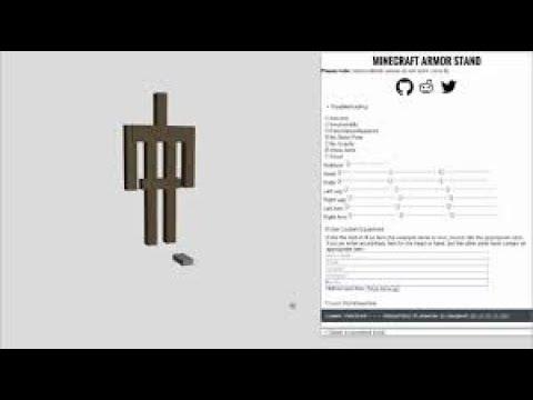 How To Make Custom ArmorStand! [Using Online Generator]