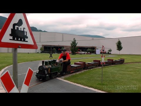 The Superb Steam Locomotive on Mr. Porsche 's Garden Railway including Firing Up the Steam Engine