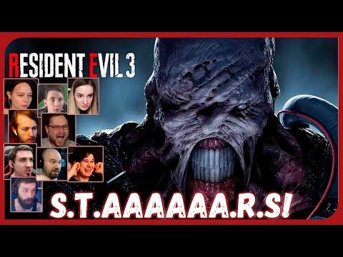 Реакции Летсплейщиков на Немезиса (Часть 1) из Resident Evil 3: Raccoon City Demo