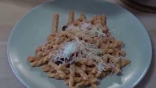 паста по-итальяски со сливочным-томатным соусом